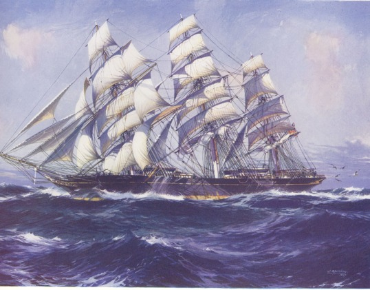 Cutty-Sark-painting