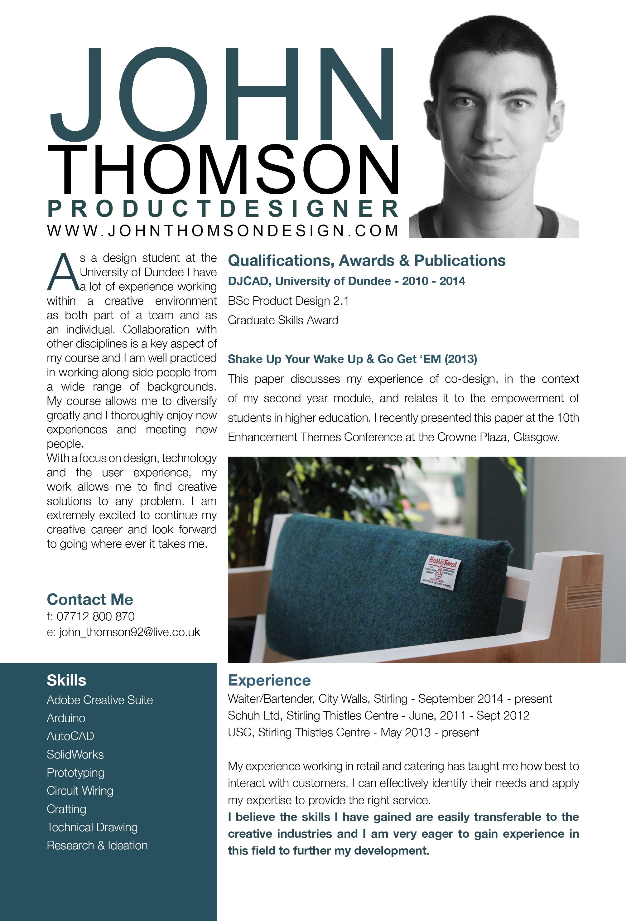 Curriculum Vitae | John Thomson
